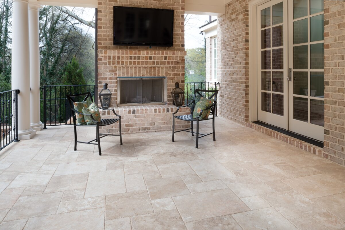 Invermere tiled patios for indoor outdoor living